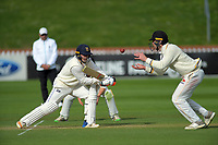 Otago's Dale Phillips bats as Wellington's Fraser Colson fields during day two of the Plunket Shield cricket match between the Wellington Firebirds and Otago Volts at the Basin Reserve in Wellington, New Zealand on Tuesday, 22 October 2019. Photo: Dave Lintott / lintottphoto.co.nz