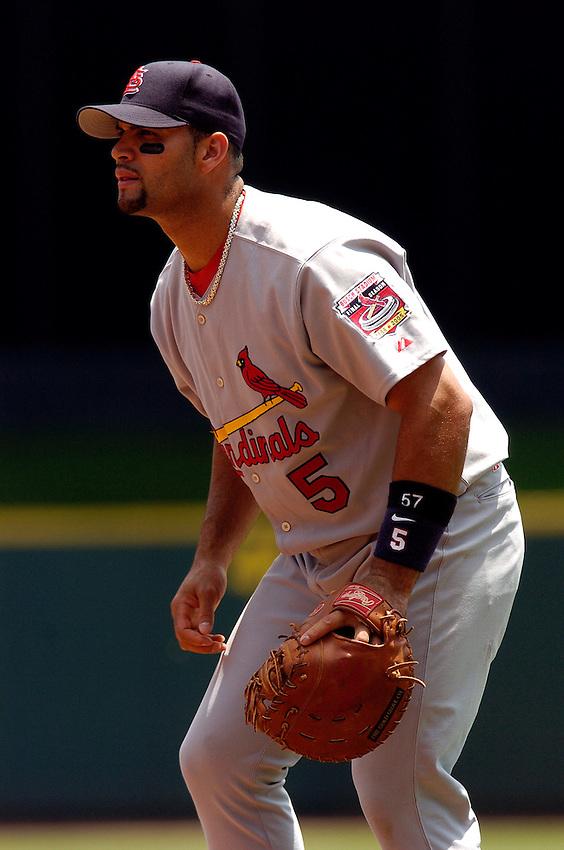 St. Louis Cardinals first baseman Albert Pujols during the 2005 MLB season.