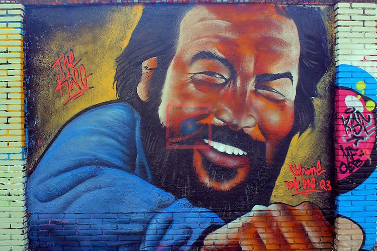 Street Art-Graffittis.<br /> Carrer de Peru<br /> Barcelona-Poblenou (Sant Marti).