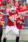 Wisconsin Badgers punter Brad Nortman (98) during warmups prior to the NCAA college football game against the Ohio State Buckeyes on October 16, 2010 at Camp Randall Stadium in Madison, Wisconsin. The Badgers beat the Buckeyes 31-18. (Photo by David Stluka)