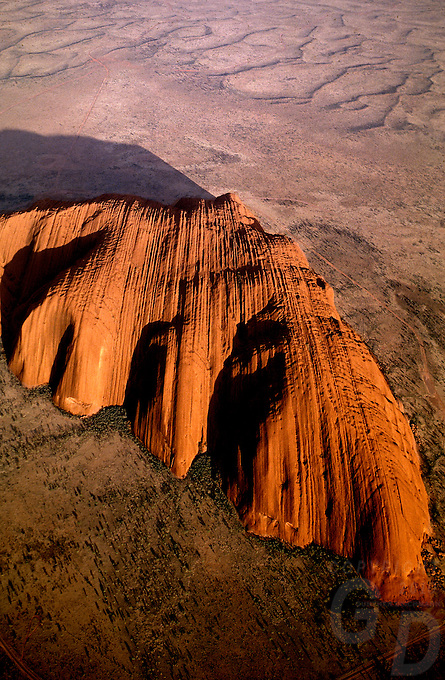 AERIAL VIEW OVER AYERS ROCK