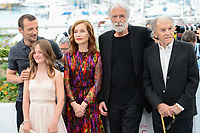 "22 May 2017 - Cannes, France - Mathieu Kassovitz, Fantine Harduin, Isabelle Huppert, Michael Ha. ""Happy End"" Photocall - 70th Annual Cannes Film Festival held at Palais des Festivals. Photo Credit: Jan Sauerwein/face to face/AdMedia"