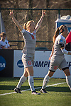 KANSAS CITY, MO - DECEMBER 02: Lauren Wade (11) of Carson-Newman University after scoring the opening goal during the Division II Women's Soccer Championship held at the Swope Soccer Village on December 2, 2017 in Kansas City, Missouri. (Photo by Doug Stroud/NCAA Photos/NCAA Photos via Getty Images)