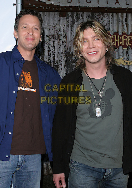 GOO GOO DOLLS.13th Annual American Society Of Young Musicians Spring Benefit Concert and Awards Show held at the House Of Blues..June 9th, 2005.Photo credit: Jacqui Wong/AdMedia.half length army tags.www.capitalpictures.com.sales@capitalpictures.com.© Capital Pictures.