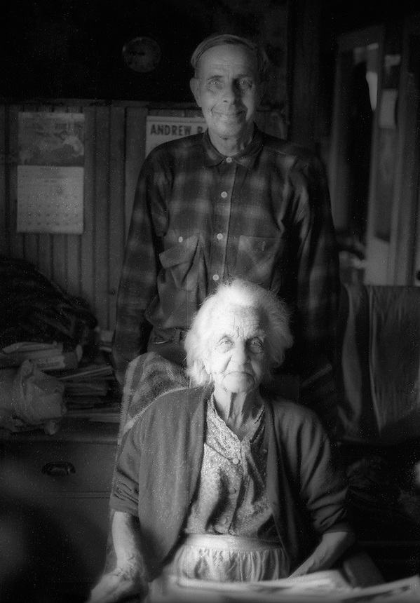 Melinda Hicks and her son Bryan, Colebrook, New Hampshire..Photograph by Peter E. Randall