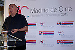 20.06.2012. Working Breakfast at the Hotel Santo Domingo with the press within the framework of the ´VII edition of Madrid de Cine-Spanish Film Screenings´.With the presence of Enrique Urbizu, Pedro Perez President of FAPAE and Gonzalo Salazar-Simpson, President of ACS. In which Agustin Almodovar, on behalf of his brother Pedro, received the Award Fapae - Rentrak 2012 at the Spanish Film Major International Impact ´La piel que Habito (The Skin That Habit). In the image Agustin Almodovar (Alterphotos/Marta Gonzalez)