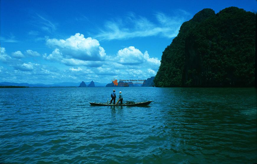 Fishermen fishing the Andaman Sea