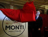 20130104 ROMA-POLITICA: MONTI PRESENTA IL SIMBOLO DELLA SUA LISTA