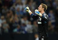 FUSSBALL   EUROPA LEAGUE   SAISON 2011/2012   Play-offs FC Schalke 04 - HJK Helsinki                                25.08.2011 Jubel nach dem dem Abpfiff: Torwart Ralf FAEHRMANN (Schalke)