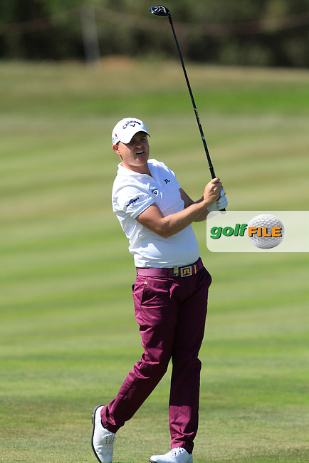 James Morrison (ENG) on the 18th fairway during Round 3 of the Open de Espana  in Club de Golf el Prat, Barcelona on Saturday 16th May 2015.<br /> Picture:  Thos Caffrey / www.golffile.ie