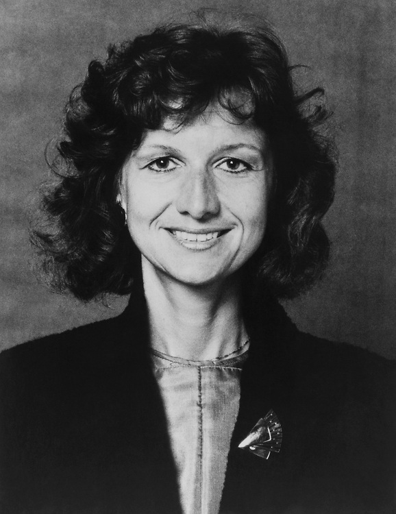 Close-up of Rep. Claudine Schneider, R-R.I., on August 16, 1983. (Photo by CQ Roll Call)