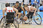 November 18 2011 - Guadalajara, Mexico:   Patrick Anderson of Team Canada goes for the call in the CODE Alcalde Sports Complex at the 2011 Parapan American Games in Guadalajara, Mexico.  Photos: Matthew Murnaghan/Canadian Paralympic Committee