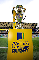 The Aviva Premiership Trophy on display before the Aviva Premiership Final between Leicester Tigers and Northampton Saints at Twickenham Stadium on Saturday 25th May 2013 (Photo by Rob Munro)