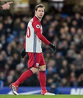 Grzegorz Krychowiak of WBA during the Premier League match between Chelsea and West Bromwich Albion at Stamford Bridge, London, England on 12 February 2018. Photo by Andy Rowland.
