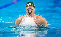 VAN Der BURGH Cameron RSA<br /> 200 breaststroke men<br /> heats<br /> FINA Airweave Swimming World Cup 2015<br /> Doha, Qatar 2015  Nov.2 nd - 3 rd<br /> Day1 - Nov. 2 nd<br /> Photo G. Scala/Deepbluemedia