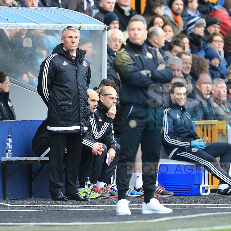Sheffield United's Nigel Adkins looks on during the League One match at The Den.  Photo credit should read: David Klein/Sportimage