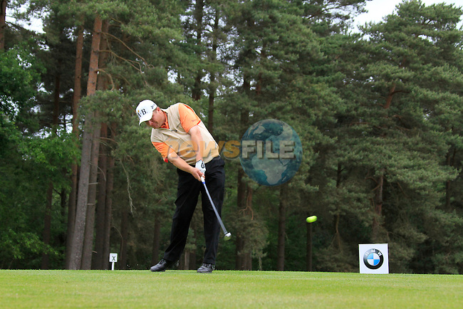 Greig Hutcheon (SCO) tees of on the 8th tee during Day 3 of the BMW PGA Championship Championship at, Wentworth Club, Surrey, England, 28th May 2011. (Photo Eoin Clarke/Golffile 2011)