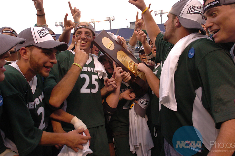27 May 2007:  Le Moyne College takes on Mercyhurst College during the Division II Men?s Lacrosse Championship held at M&T Bank Stadium in Baltimore, MD.  Le Moyne defeated Mercyhurst 6-5 for the national title.  Larry French/NCAA Photos