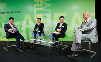 Panel discussion during Bloomberg Forum 'Green Evolution: China and the Global New Energy Race', at the USA Pavilion, in Shanghai World Expo 2010, China, on October 21, 2010. Photo by Lucas Schifres/Pictobank