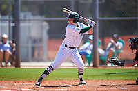 Eastern Michigan Eagles second baseman Drake Peggs (5) at bat during a game against the Dartmouth Big Green on February 25, 2017 at North Charlotte Regional Park in Port Charlotte, Florida.  Dartmouth defeated Eastern Michigan 8-4.  (Mike Janes/Four Seam Images)
