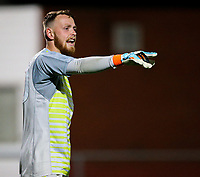 Leicester City U21s' Viktor Johansson<br /> <br /> Photographer Alex Dodd/CameraSport<br /> <br /> The EFL Checkatrade Trophy - Northern Group B - Fleetwood Town v Leicester City U21 - Tuesday September 11th 2018 - Highbury Stadium - Fleetwood<br />  <br /> World Copyright &copy; 2018 CameraSport. All rights reserved. 43 Linden Ave. Countesthorpe. Leicester. England. LE8 5PG - Tel: +44 (0) 116 277 4147 - admin@camerasport.com - www.camerasport.com