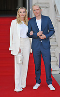 "LONDON, ENGLAND - AUGUST 08: Joanna Vanderham and Mr Hudson (Benjamin Hudson McIldowie) at the ""Pain and Glory"" Film4 Summer Screen opening gala & launch party, Somerset House, The Strand, on Thursday 08 August 2019 in London, England, UK.<br /> CAP/CAN<br /> ©CAN/Capital Pictures"