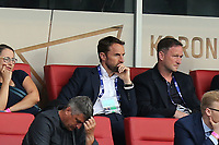 England seniors manager Gareth Southgate watches from the stands during Sweden Under-21 vs England Under-21, UEFA European Under-21 Championship Football at The Kolporter Arena on 16th June 2017