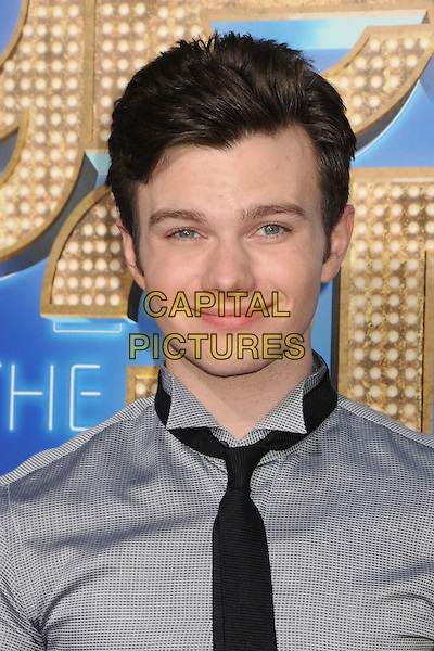 Chris Colfer.The 20th Century Fox 'Glee 3D' Concert World Movie Premiere held at The Regency Village theatre in Westwood, California, USA,.August 6th 2011..headshot portrait grey gray shirt black tie .CAP/ADM/BP .©Byron Purvis/AdMedia/Capital Pictures.