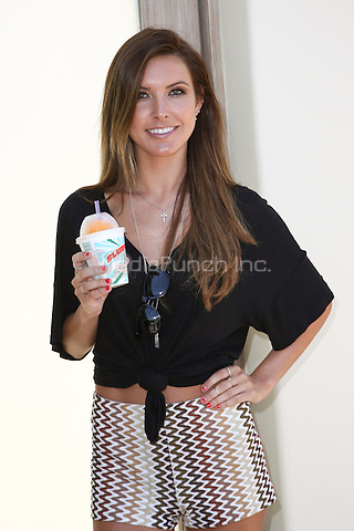 Audrina Patridge arrives at the 7_Eleven 86th Birthday Party hosted by Nikki Reed in Malibu, California on July 9, 2013. <br /> © RTNBD/MediaPunch Inc.