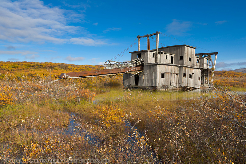 Lee's Dredge, along the Council Highway on the Seward Peninsula, western Arctic, Alaska. Operated until 1960 by the Lee family.
