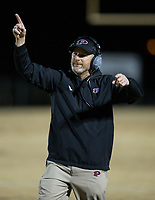 NWA Democrat-Gazette/BEN GOFF @NWABENGOFF<br /> Tommy Poole, Prescott head coach, vs Booneville Saturday, Dec. 1, 2018, during the class 3A state semifinal game at Bearcat Stadium in Booneville.