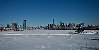"A general view of New York city from New jersey . The Winter snow storm ""Nemo"" is dumping heavy snow on Jersey City, forcing slow travel for those that must leave their homes. New Jersey United States. 09/01/2013. Photo by Kena Betancur/VIEWpress."