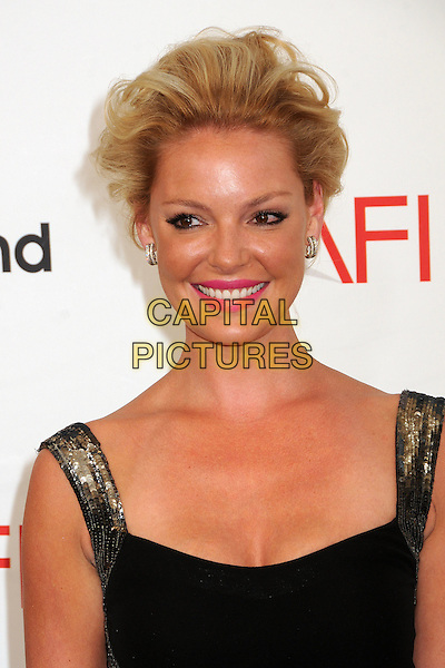 Katherine Heigl.40th Annual AFI Life Achievement Award Honoring Shirley MacLaine held at Sony Pictures Studios, Culver City, California, USA..June 7th, 2012.headshot portrait black gold sequins sequined pink lipstick.CAP/ADM/BP.©Byron Purvis/AdMedia/Capital Pictures.
