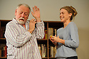 London, UK. 02.10.2015. THE FATHER, written by Florian Zeller, in a new translation by Christopher Hampton, opens at Wyndham's Theatre. Directed by James Macdonald, with lighting design by Guy Hoare, and set and costume design by Miriam Buether. Picture shows: Kenneth Cranham (Andre), Kirsty Oswald (Laura). Photograph © Jane Hobson.
