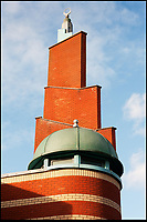 BNPS.co.uk (01202 558833)<br /> Pic: HistoricEngland/BNPS<br /> <br /> Modern minaret of the Shah Jalaan Mosque in Manchester.<br /> <br /> A new book from Historic England reveals the spread of Mosque building across Britain.<br /> <br /> The book provide a fascinating insight into the diversity of Britain's 1,500 mosques.<br /> <br /> They range from humble house conversions where small groups gather to magnificent purpose-built complexes which can accommodate thousands of worshippers.<br /> <br /> Architect Shahed Saleem, who has designed a mosque in Hackney, east London, has produced the first comprehensive overview of Islamic architecture on these shores in his new book, The British Mosque.