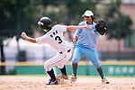 #3 Ono Ayumi of Japan runs after bating during the BFA Women's Baseball Asian Cup match between Japan and India at Sai Tso Wan Recreation Ground on September 6, 2017 in Hong Kong. Photo by Marcio Rodrigo Machado / Power Sport Images