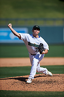 Surprise Saguaros relief pitcher Tad Ratliff (37), of the Kansas City Royals organization, during the Arizona Fall League Championship Game against the Salt River Rafters on October 26, 2019 at Salt River Fields at Talking Stick in Scottsdale, Arizona. The Rafters defeated the Saguaros 5-1. (Zachary Lucy/Four Seam Images)