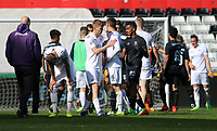 SWANSEA, WALES - MARCH 25: Swansea shakes hands with the opposition and officials after the final whistle of the Premier League International Cup Semi Final match between Swansea City and Porto at The Liberty Stadium on March 25, 2017 in Swansea, Wales. (Photo by Athena Pictures)Athena Pictures)