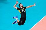 18.09.2019, Lotto Arena, Antwerpen<br />Volleyball, Europameisterschaft, Deutschland (GER) vs. Slowakei (SVK)<br /><br />Aufschlag / Service Denys Kaliberda (#6 GER)<br /><br />  Foto © nordphoto / Kurth