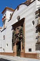 Kirche Santo Domingo der  Bruderschaft Paso Blanco bei  der Semana Santa (Karwoche) in Lorca,  Provinz Murcia, Spanien, Europa