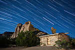 Star Trails Over Swaysey Cabin