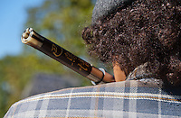 Dew-b Outlaw brought a flute on the march, and played it during the Occupy Orange County, Irvine march on November 5.