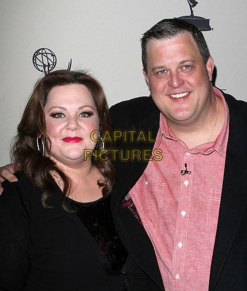 "Melissa McCarthy & Billy Gardell.Academy Of Television Arts And Sciences Presents An Evening With ""Mike & Molly"" Held At The Leonard Goldenson Theatre, North Hollywood, California, USA, 8th March 2012..portrait headshot black  sequined sequin  top red shirt suit .CAP/ADM/KB.©Kevan Brooks/AdMedia/Capital Pictures."