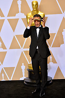 Alexandre Desplat at the 90th Academy Awards Awards at the Dolby Theartre, Hollywood, USA 04 March 2018<br /> Picture: Paul Smith/Featureflash/SilverHub 0208 004 5359 sales@silverhubmedia.com