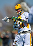 17 March 2012: University of Vermont Catamount Midfielder Thomas Galvin, a Junior from Cockeysville, MD, in action against the Sacred Heart University Pioneers at Virtue Field in Burlington, Vermont. The visiting Pioneers rallied to tie the score at 11 with five unanswered goals in the 4th period. However the Cats came back with only 10 seconds remaining in the game to defeat the Pioneers 12-11 in their non-conference matchup. Mandatory Credit: Ed Wolfstein Photo