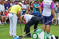 Sergio Garcia (ESP) gets a ruling on the 14th green during round 4 of the Dean &amp; Deluca Invitational, at The Colonial, Ft. Worth, Texas, USA. 5/28/2017.<br /> Picture: Golffile | Ken Murray<br /> <br /> <br /> All photo usage must carry mandatory copyright credit (&copy; Golffile | Ken Murray)