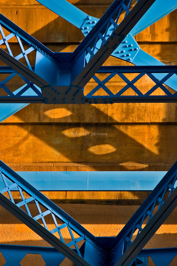 Pittsburghs Bridges - Under the 31st, Blue and Gold