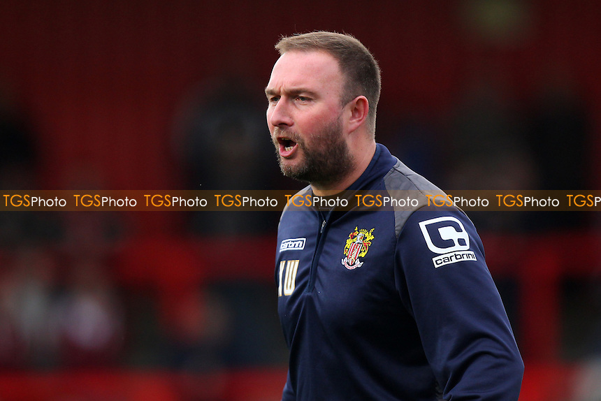 Stevenage assistant manager Kevin Watson during Stevenage vs Accrington Stanley, Sky Bet League 2 Football at the Lamex Stadium, Stevenage, England on 19/12/2015