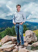 CEO of Vail Resorts Robert Katz on top of the Eagle Bahn Gondola near the new Epic Discovery adventure park in Vail, Colorado, Friday, September 2, 2016. Katz has transformed Vail into a growth stock with innovative marketing, pumping money into acquisitions, off-piste attractions, and the hugely popular Epic Pass, which for $800 buys all-season access to every Vail resort and a couple more in Europe. Purists may whine but the stock&rsquo;s more than doubled in the past couple of years to a $5 billion market cap.<br /> <br /> Photo by Matt Nager