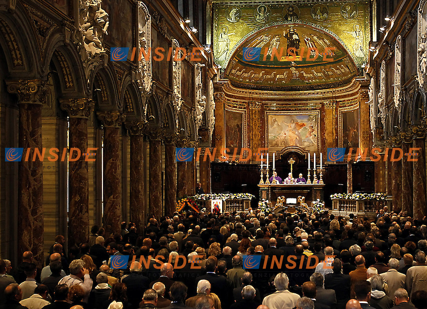 Roma 05/11/2012 Basilica San Marco funerali di Pino Rauti.Photo Matteo Ciambelli / Insidefoto . burial of Pino Rauti, a representative of italian fascism death in Rome two days ago. Roma November 5 2012